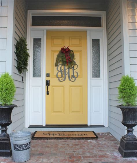 gray house yellow door 17 best ideas about yellow doors on pinterest yellow