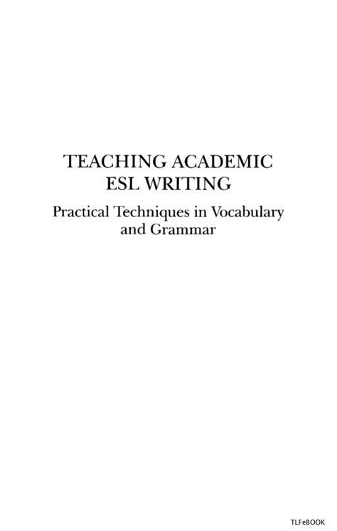 Lawrence Erlbaum Teaching Academic Esl Writing Practical