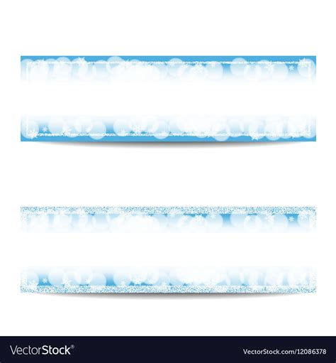 Winter Horizontal Banner Templates With Silver Vector By Olga Hmelevska Image 12086378 Winter Banner Templates