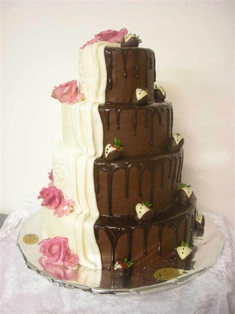hochzeitstorte zweigeteilt hochzeits torte schoko schwarz wei 223 auf ja de