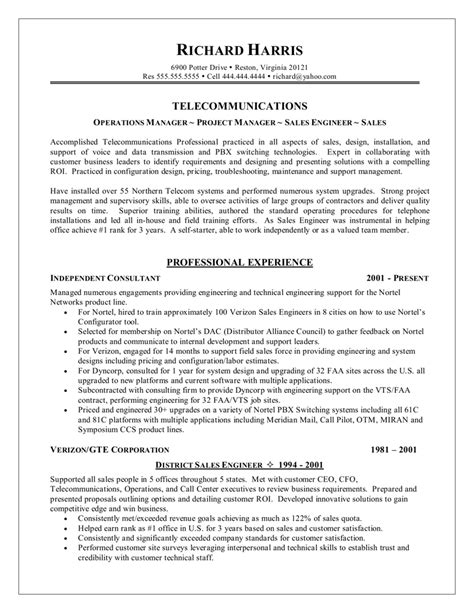 Communication Resume Exles by Communication Technician Resume Resume Ideas