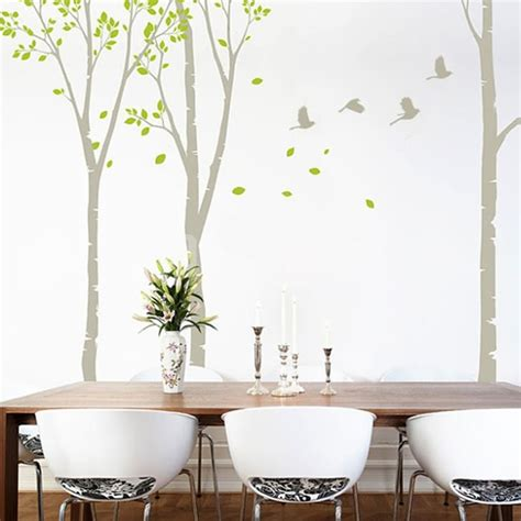 birch tree wall stickers white wall decals 2017 grasscloth wallpaper
