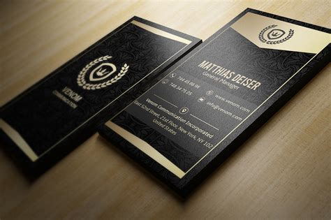 Black And Gold Business Card Templates Free by Gold Black Business Card Template Inspiration Cardfaves