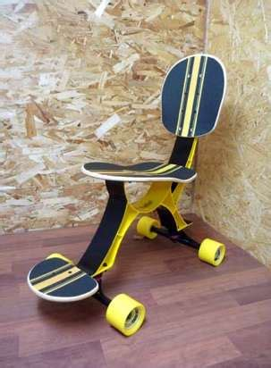 Modern Skateboard Furniture Skateboard Office Chair Eoffice Coworking Office Design Workplace Technology Innovation