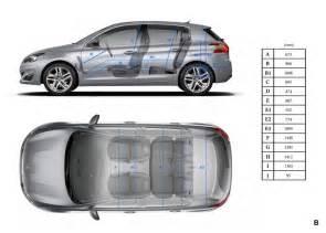 Peugeot Dimensions Principales Dimensions Int 233 Rieures Mm Peugeot 308 Ii 2