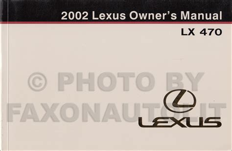 automotive service manuals 1998 lexus lx transmission control 2002 lexus lx 470 repair shop manual original 2 volume set