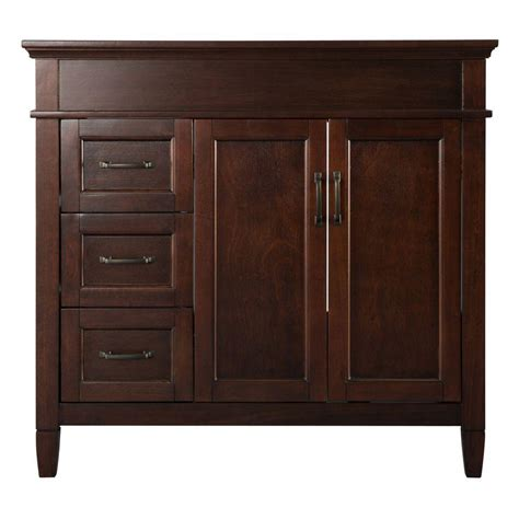 Bathroom Vanity Cabinets With Tops Foremost Ashburn 36 In W Bath Vanity Cabinet Only In Mahogany Asga3621d The Home Depot