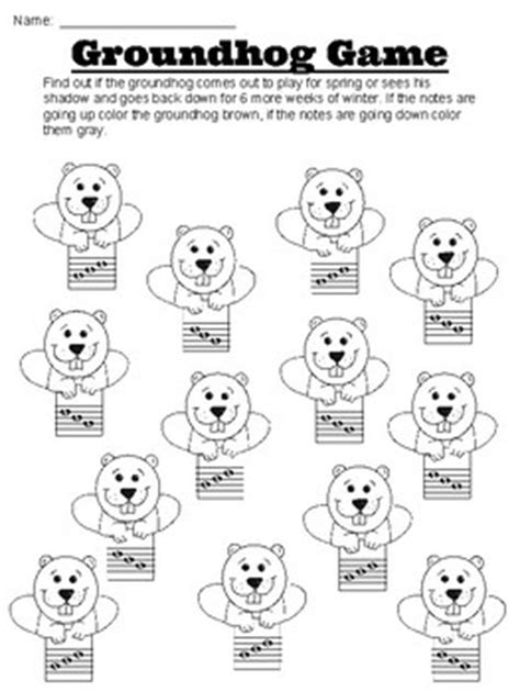 groundhog day viewing worksheet groundhog day worksheets rhythm and melodic contour