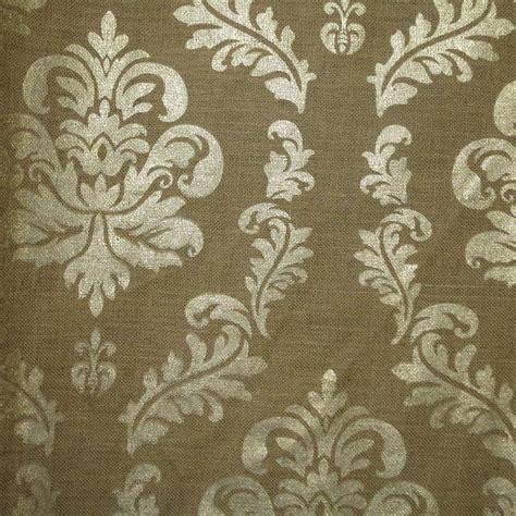 printed burlap upholstery fabric metallic gold damask print on burlap jute fabric burlap