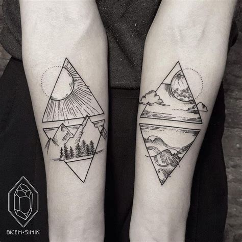 tattoo geometric instagram 25 best ideas about triangle tattoos on pinterest