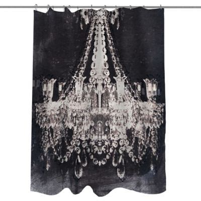 dramatic shower curtain buy black and white fabric shower curtains from bed bath