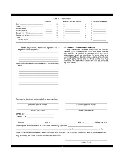 Pasture Lease Agreement Template Free Download Grazing Lease Agreement Template