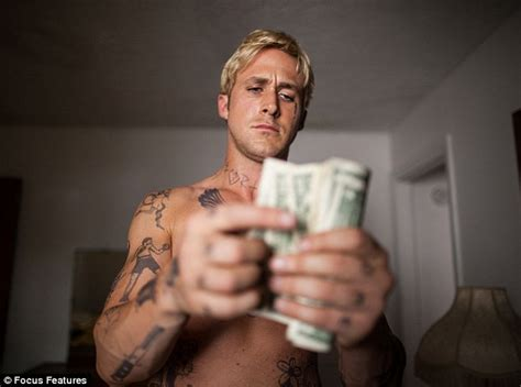 A Place Actors Gosling Is Ripped And Stripped As He Reveals Heavily Tattooed Torso In New Stills For The