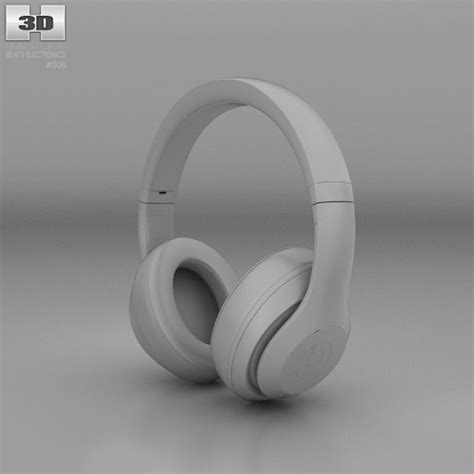 Beats By Dr Dre Studio On Ear Headphone White Clear Bass 1 beats by dr dre studio ear headphones black 3d model