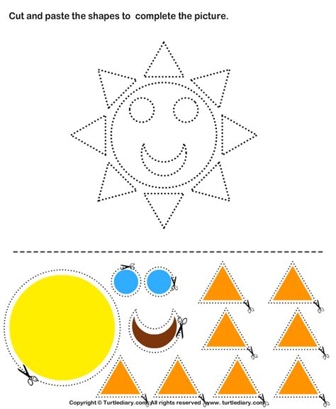 printable shapes cut and paste cut and paste shapes activities craft activities for kids