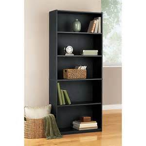 mainstays 5 shelf bookcase black furniture walmart com