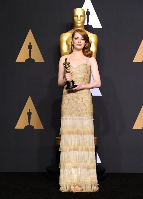 emma stone oscar dress emma stone wins best actress at the 2017 oscars