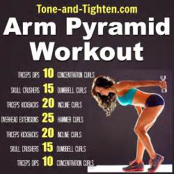 how to tone your at home arm pyramid workout the best exercises to tone and