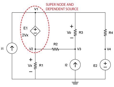 nodal analysis voltage across resistor nodal analysis and dependent sources