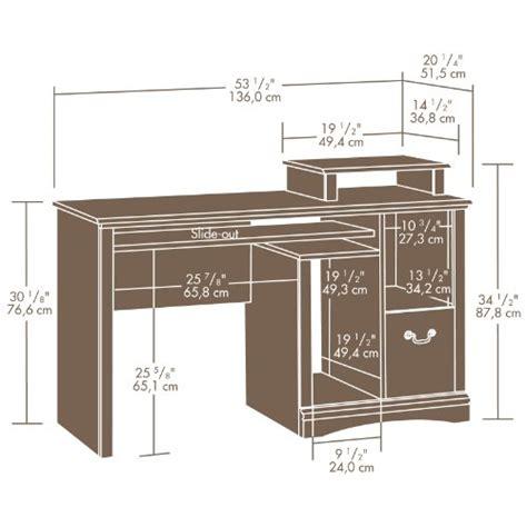 Sauder Camden County Computer Desk Planked Cherry Finish Sauder Camden County Computer Desk