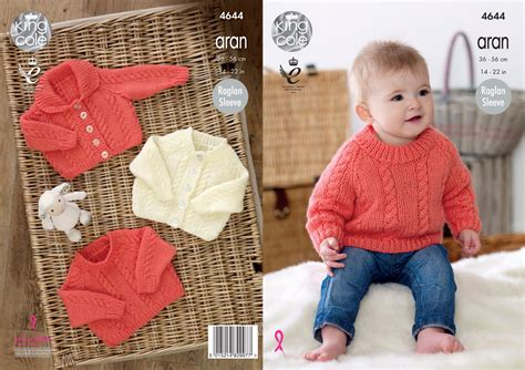king cole aran knitting patterns knitting pattern king cole baby aran raglan sleeve cabled