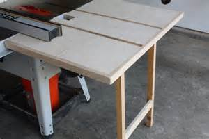 outfeed table plans outfeed table built from scraps but useful in the