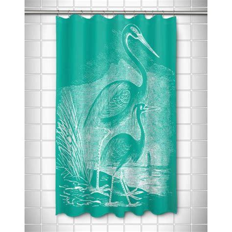 aqua shower curtain island girl vintage egrets shower curtain white on aqua