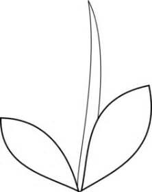 flower stem template stem leaves clip at clker vector clip