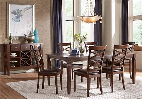 riverdale cherry pc rectangle dining room chairs formal