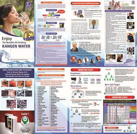 Dijamin Brosur Kangen Water komunitas rumah sehat krs