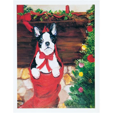 Boston Gift Card - 6 boston terrier boxed christmas greeting cards ebay