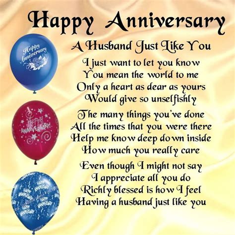 Wedding Anniversary Poems For Husband In Heaven by Details About Personalised Coaster A Husband Poem Happy