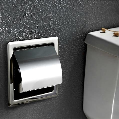 stainless steel bathroom wall in tissue box toilet