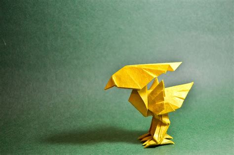 Origami Chocobo - the world of videogame origami part 1