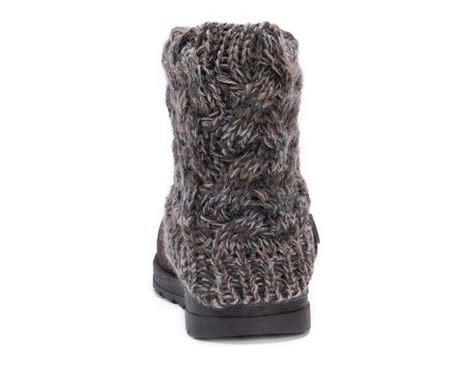 muk luks knit boots muk luks boots womens patti ankle cozy sweater knit cuff