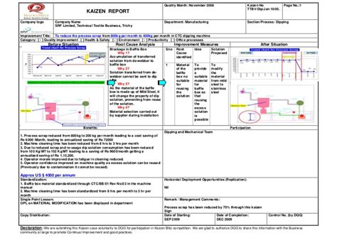 team charter template sle wqd2011 kaizen srf oversear ltd to reduce the