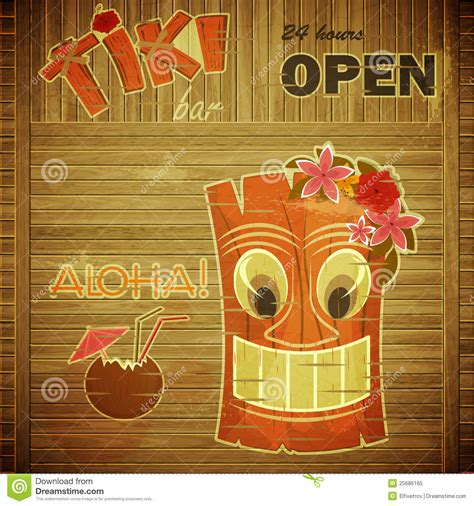 Vintage Design Hawaii Menu Stock Vector Image Of Coconut 25686165 Tiki Bar Menu Template