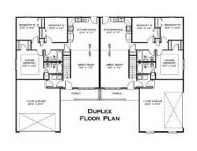 Floor Plans For Duplexes by Duplex Floor Plan House Plans Pinterest