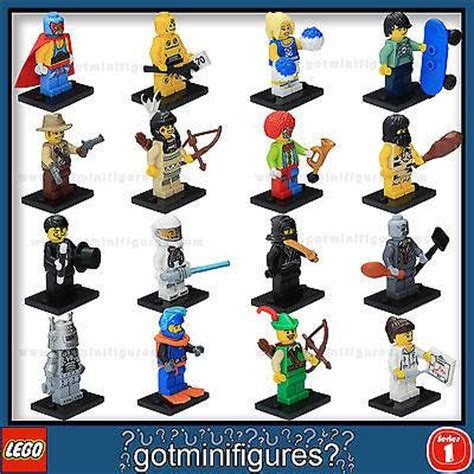 Exklusif Best Seller Lego 8683 Lego Minifigures Series 1 Complete Fu series 1 lego complete set of 16 minifigures 8683