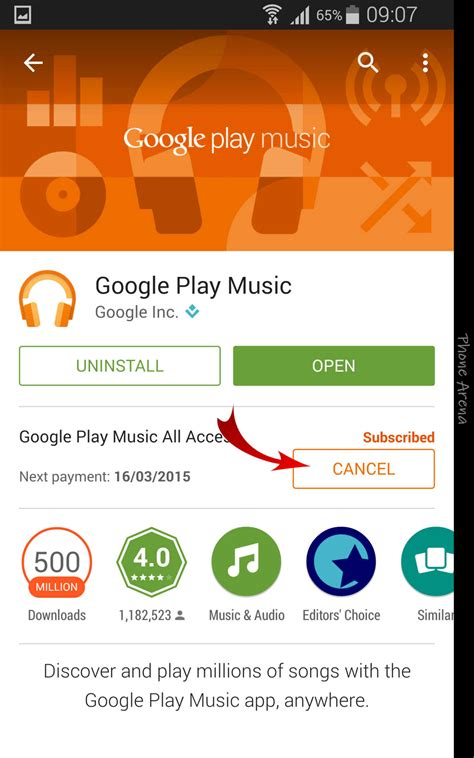 play music how to cancel subscription for google play music all