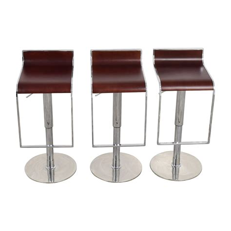 reclining bar stool 84 off inmod inmod forest brown adjustable bar counter