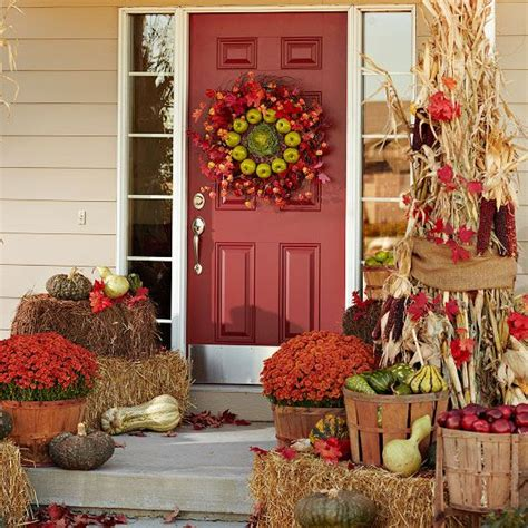 fall entrance decorating ideas gorgeous front door fall decorating ideas four