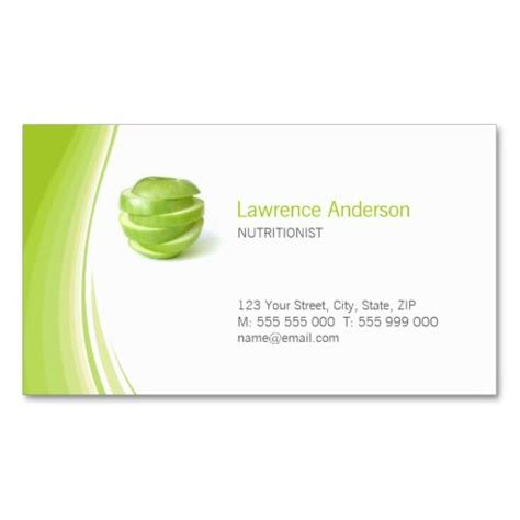 nutritionist business card templates dietitian nutritionist business card dietitian