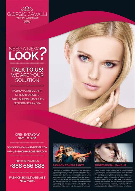 flyer templates hairdresser hairdresser salon fashion business flyer on behance