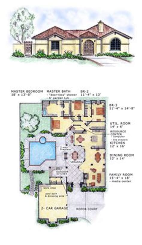 653667 french acadian four bedroom with many extras house plans floor plans home plans plan 81384w open courtyard dream home plan