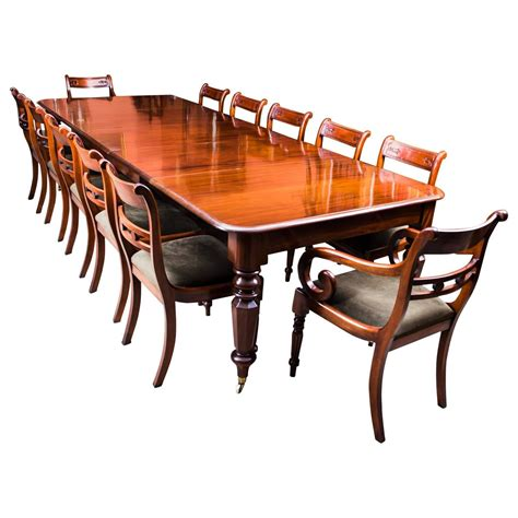 Dining Table With 12 Chairs Antique William Iv Mahogany Extending Dining Table And 12 Chairs Coma Frique Studio 0b23c0d1776b