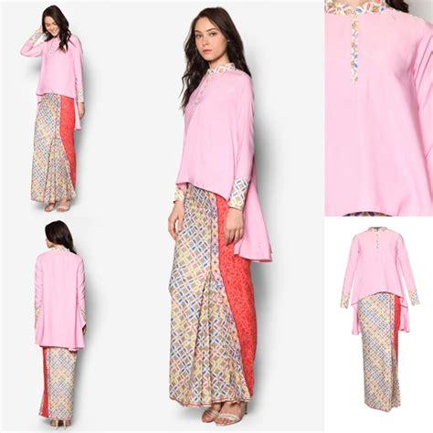 Baju Atasan Wanita Outerwear Cat Pink baju kurung moden kain songet terkini baju raya 2017