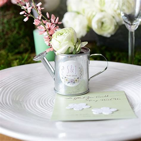 mini watering cans wedding favours bridal showers