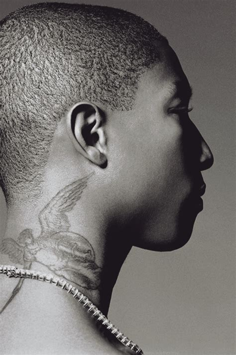 pharrell tattoos pharrell williams i his neck ink city