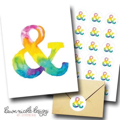 printable white sticker paper silhouette watercolor ampersand free art print stickers dawn